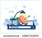 distance learning online... | Shutterstock .eps vector #1080732095