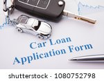 approved car loan application... | Shutterstock . vector #1080752798