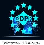 gdpr. data protection... | Shutterstock .eps vector #1080753782