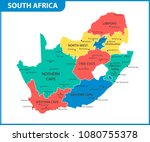 the detailed map of south... | Shutterstock .eps vector #1080755378