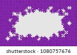 purple background puzzle.... | Shutterstock .eps vector #1080757676