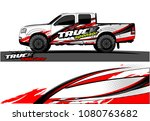 truck and car graphic vector.... | Shutterstock .eps vector #1080763682