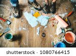 people renovating the house | Shutterstock . vector #1080766415