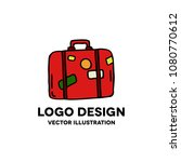 travel suitcase doodle icon | Shutterstock .eps vector #1080770612