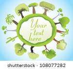 green globe with trees | Shutterstock .eps vector #108077282