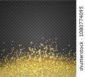 golden glitter star dust on... | Shutterstock .eps vector #1080774095