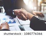 business partnership consult... | Shutterstock . vector #1080776366