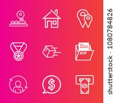 premium set with outline vector ... | Shutterstock .eps vector #1080784826