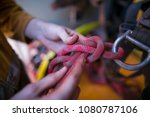 the male hand of rope access... | Shutterstock . vector #1080787106