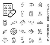 medical drugs outline icons... | Shutterstock .eps vector #1080794108