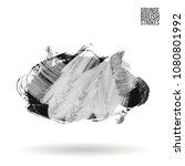 grey  brush stroke and texture. ...   Shutterstock .eps vector #1080801992