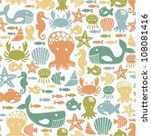 seamless pattern with colorful... | Shutterstock .eps vector #108081416
