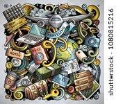 cartoon vector doodles travel...   Shutterstock .eps vector #1080815216