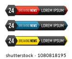 breaking news banner. news... | Shutterstock .eps vector #1080818195