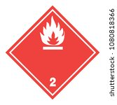 ghs hazardous flammable gas... | Shutterstock .eps vector #1080818366