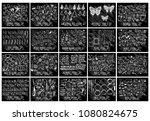 big set hand drawn doodle line... | Shutterstock .eps vector #1080824675