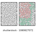illustration with labyrinth ... | Shutterstock .eps vector #1080827072