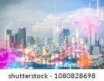 stock market digital graph... | Shutterstock . vector #1080828698