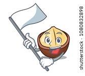 with flag macadamia mascot...   Shutterstock .eps vector #1080832898