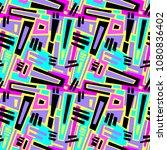 seamless brushpen textile... | Shutterstock .eps vector #1080836402