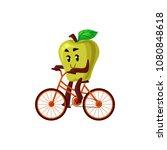 cheerful apple character... | Shutterstock .eps vector #1080848618