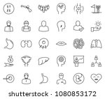 thin line icon set  ... | Shutterstock .eps vector #1080853172