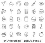 thin line icon set   cupcake...   Shutterstock .eps vector #1080854588