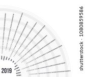 circular calendar 2019 year....   Shutterstock .eps vector #1080859586