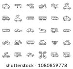 thin line icon set   home... | Shutterstock .eps vector #1080859778