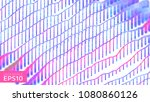 abstract data ripple background.... | Shutterstock .eps vector #1080860126