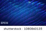 abstract data ripple background.... | Shutterstock .eps vector #1080860135