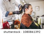 asian women and hairdressers | Shutterstock . vector #1080861392