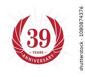 39 years anniversary. elegant... | Shutterstock .eps vector #1080874376