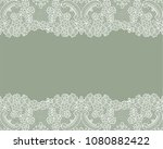 horizontally seamless green... | Shutterstock .eps vector #1080882422