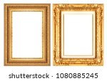 gold picture frame isolated on...   Shutterstock . vector #1080885245