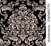 vector damask seamless pattern... | Shutterstock .eps vector #1080885755