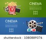 movie film banner design... | Shutterstock .eps vector #1080889376