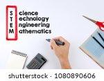 stem   science  technology ... | Shutterstock . vector #1080890606