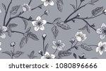 spring  floral vintage seamless ... | Shutterstock .eps vector #1080896666