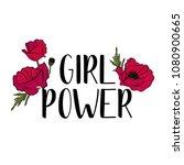 typography feminist slogan with ... | Shutterstock .eps vector #1080900665