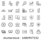 thin line icon set   check... | Shutterstock .eps vector #1080907232