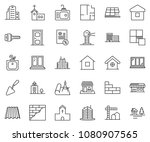 thin line icon set  ... | Shutterstock .eps vector #1080907565