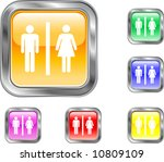 man and woman button | Shutterstock .eps vector #10809109