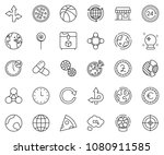 thin line icon set   around the ...   Shutterstock .eps vector #1080911585
