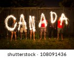 The Word Canada In Sparklers I...