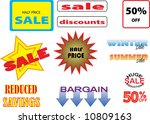 vector image of various offers... | Shutterstock .eps vector #10809163