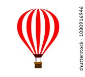 hot air balloon isolated on... | Shutterstock .eps vector #1080916946