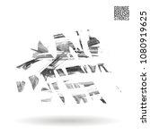 grey  brush stroke and texture. ...   Shutterstock .eps vector #1080919625