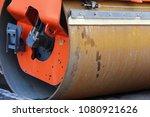 asphalt compactor roller close... | Shutterstock . vector #1080921626