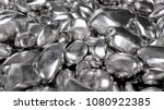 Abstract Silver Nuggets. Rock...